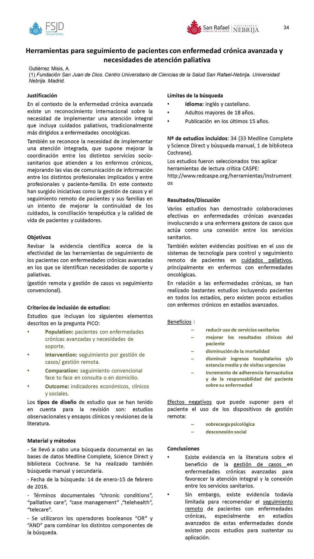 Resúmenes de Posters | VII Jornadas Nacionales de Enfermería en ...